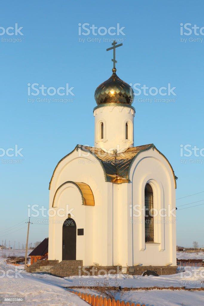 Gennady Afonsky chapel, Novosibirsk region, Russia stock photo