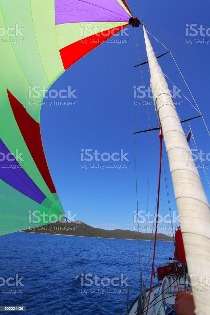Gennaker sailing stock photo