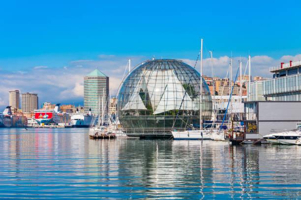 Genoa Aquarium, largest in Italy stock photo
