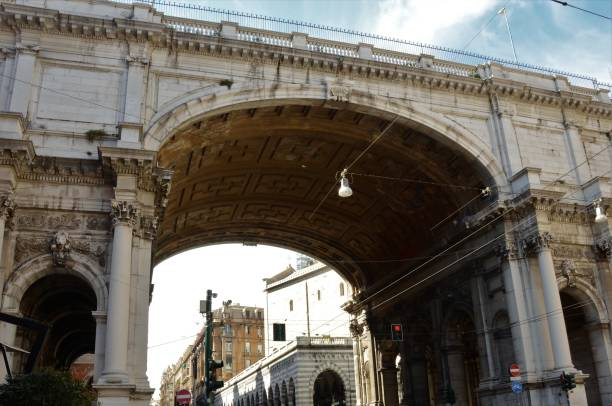 pont monumental de gênes - pont gênes photos et images de collection