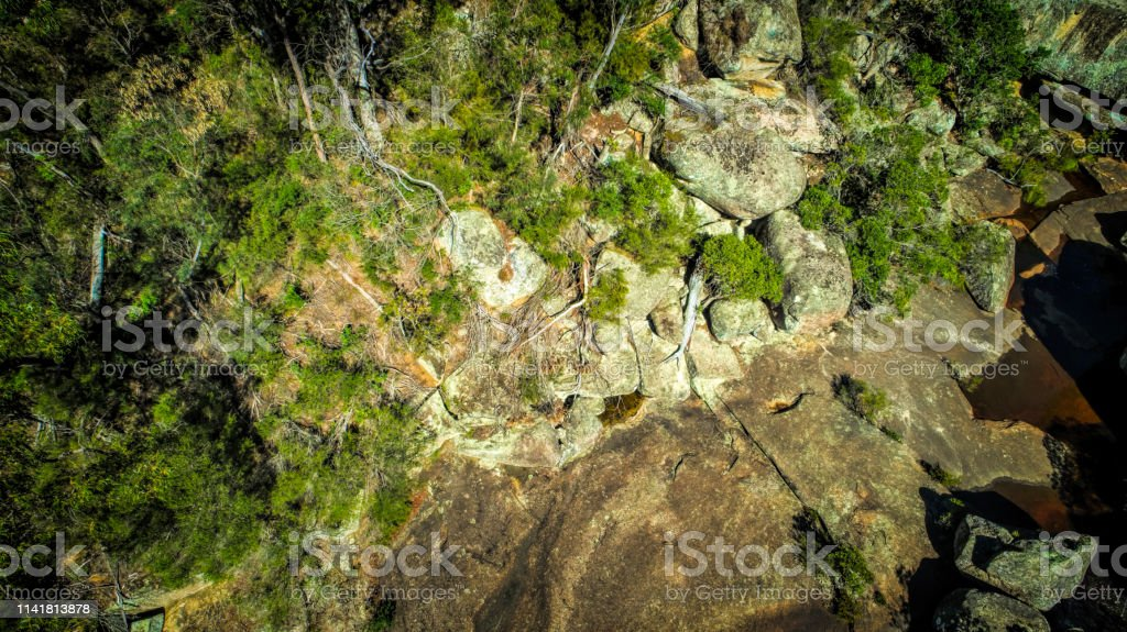 Genoa River - Royalty-free Aerial View Stock Photo