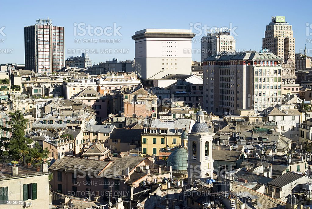 Genoa view royalty-free stock photo