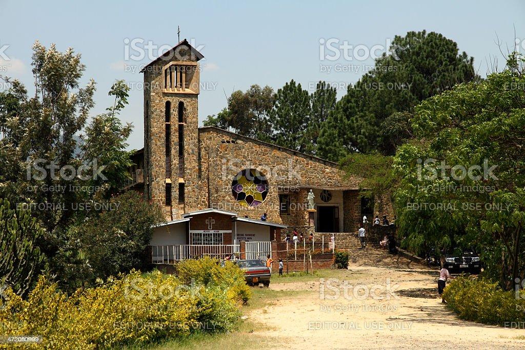Genocide Memorial Church in Kibuye, Rwanda stock photo