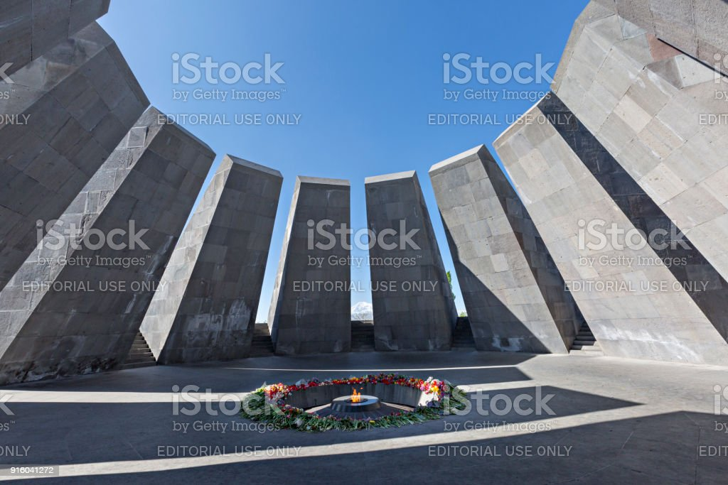Genocide memorial, Yerevan, Armenia. stock photo