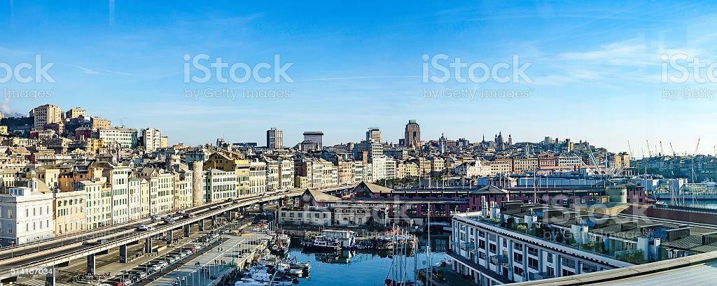 Genova panorama stock photo
