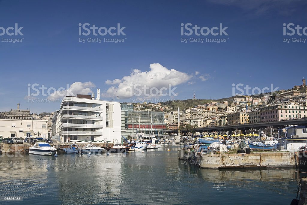Genova, seafront royalty-free stock photo