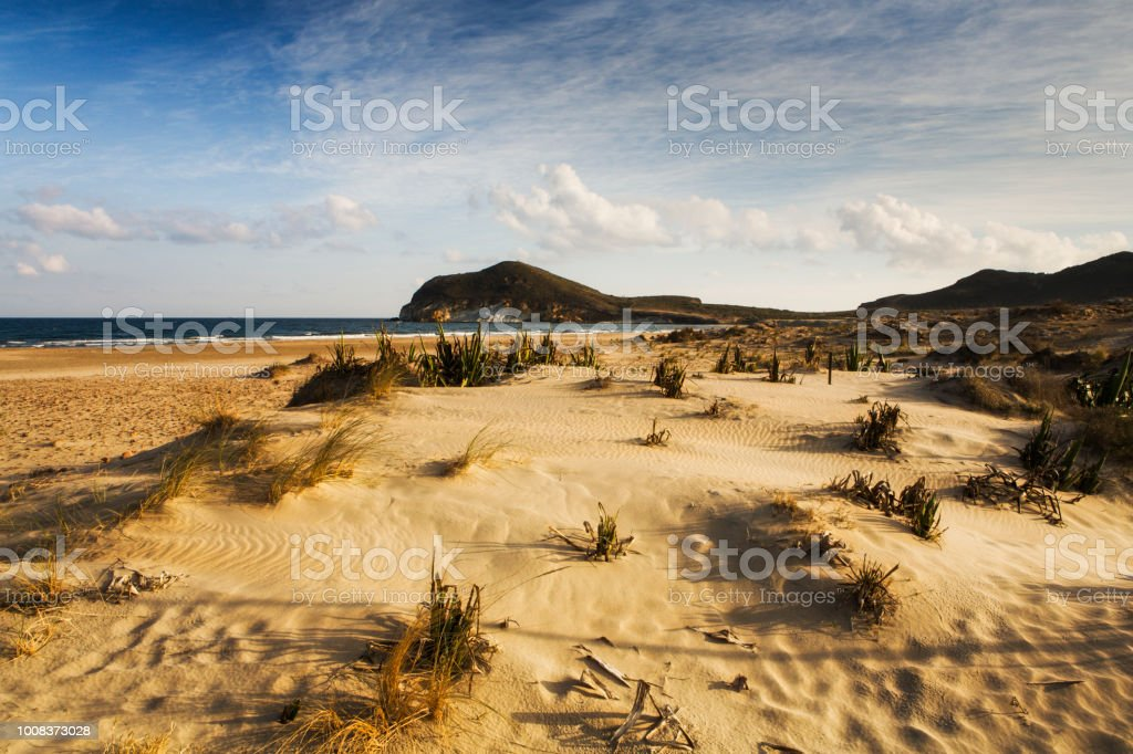 Genoveses beach is part of the natural park of Cape Gata in Almeria Spain stock photo