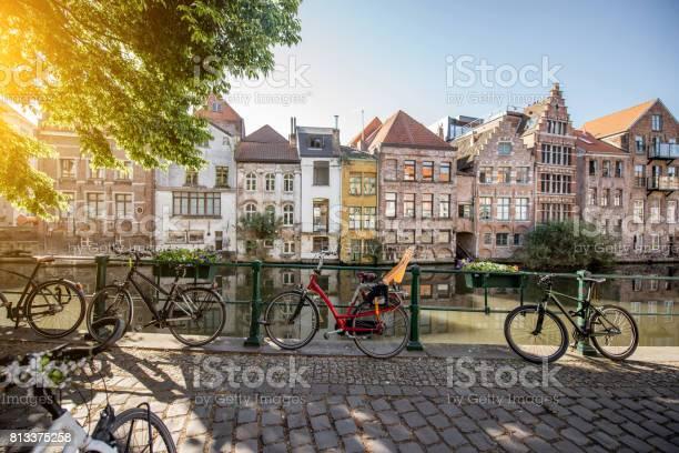 Gent City In Belgium Stock Photo - Download Image Now