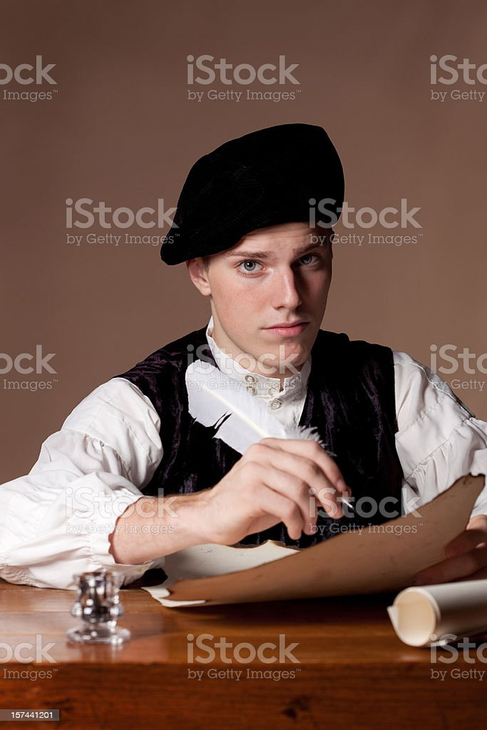 Gentelman Writing royalty-free stock photo