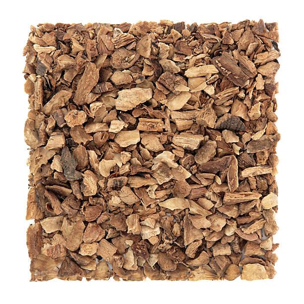 gentian root herb - gentiaan stockfoto's en -beelden