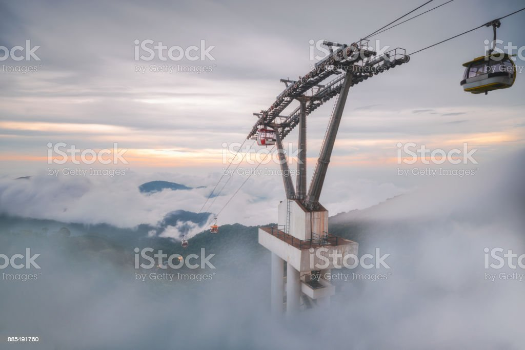 Genting Highland cable car stock photo
