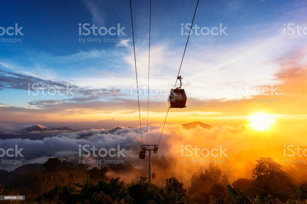 Genting Sunset stock photo