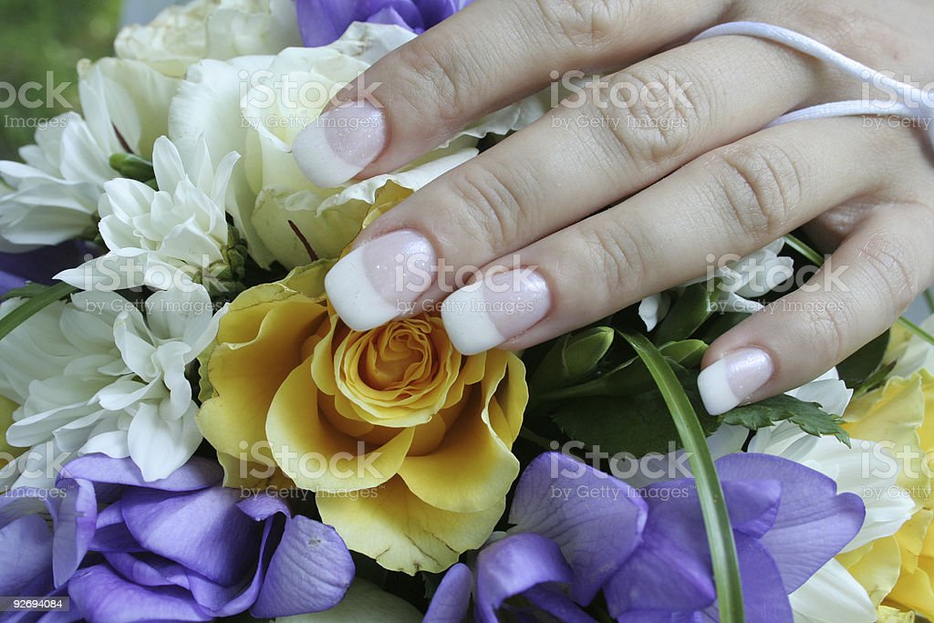 gentle hand of the bride royalty-free stock photo