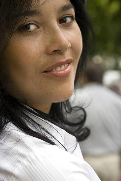 gentle smile - double_p stockfoto's en -beelden