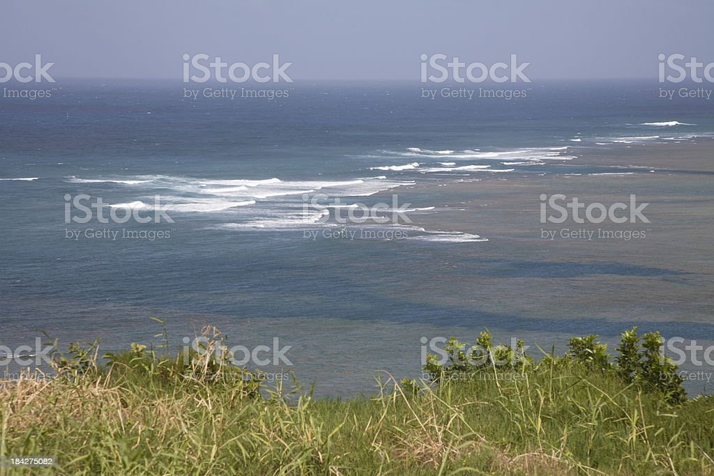 Gentle Surf And Reefs Of Hawaii stock photo