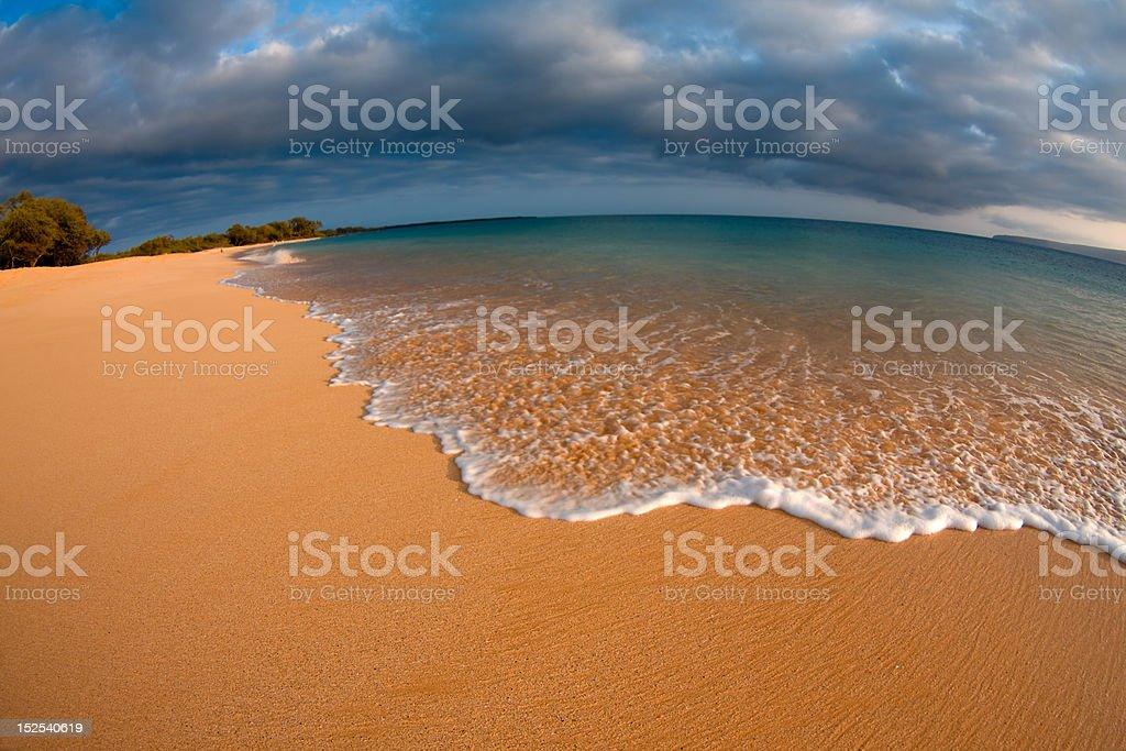 Gentle Surf on Beach stock photo