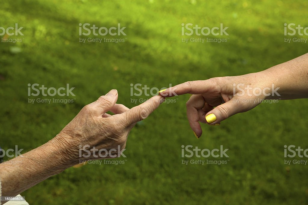 Gentle Touch stock photo