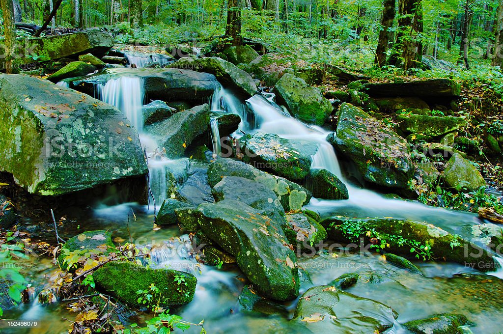 Gentle Waterfall in the Smoky Mountains royalty-free stock photo