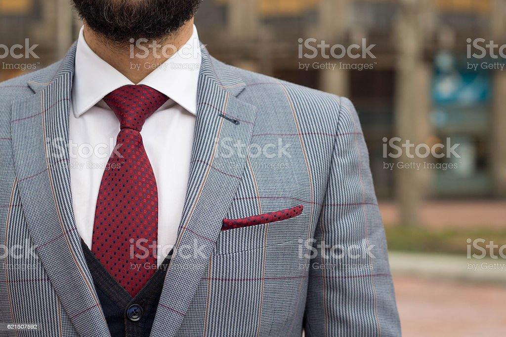 gentleman in a suit adn tie foto stock royalty-free