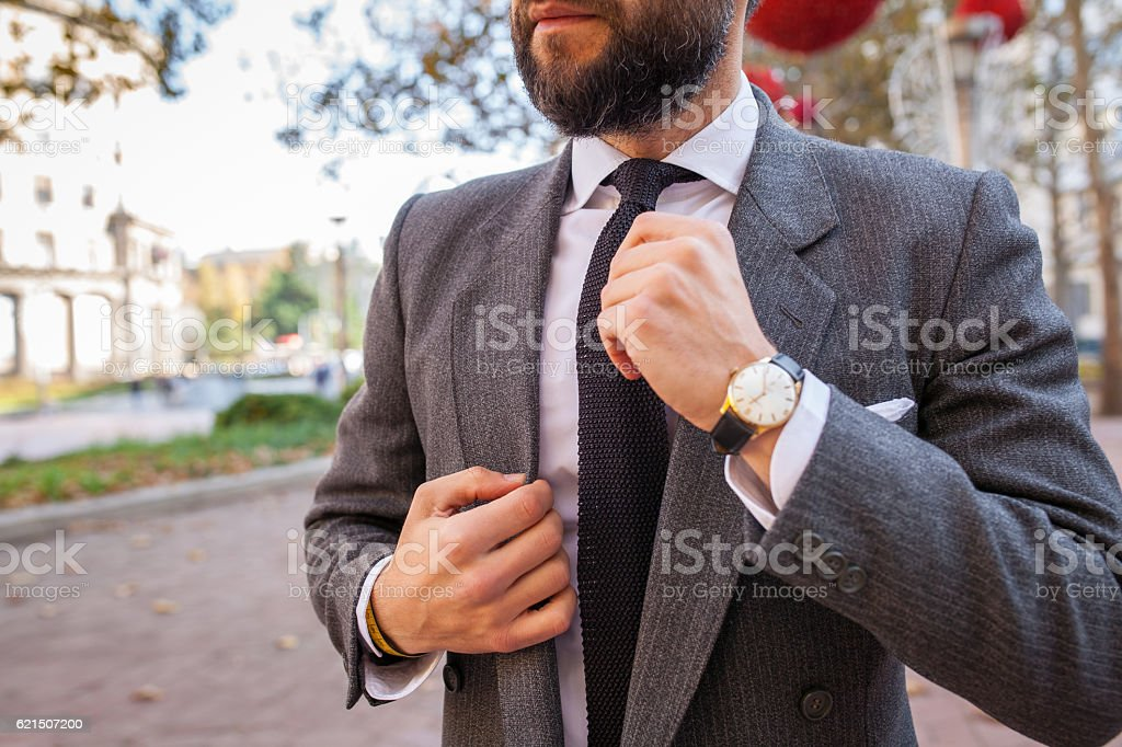 gentleman in a suit and tie Lizenzfreies stock-foto