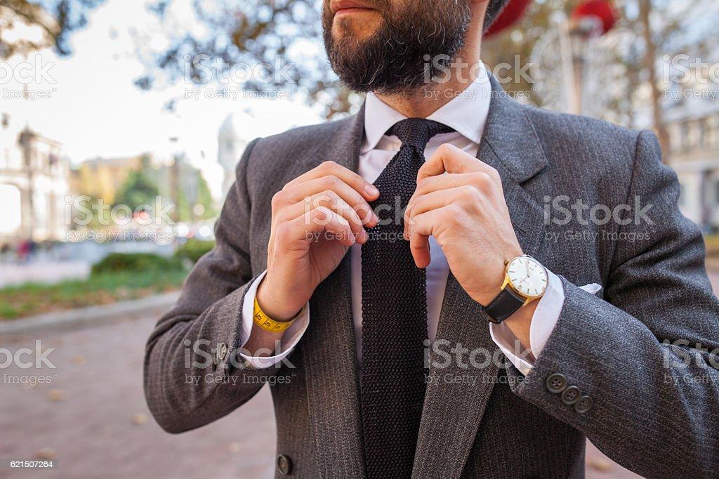 gentleman in a suit and tie photo libre de droits