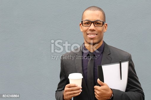 istock Gentleman in classic outfit smiling 824246864