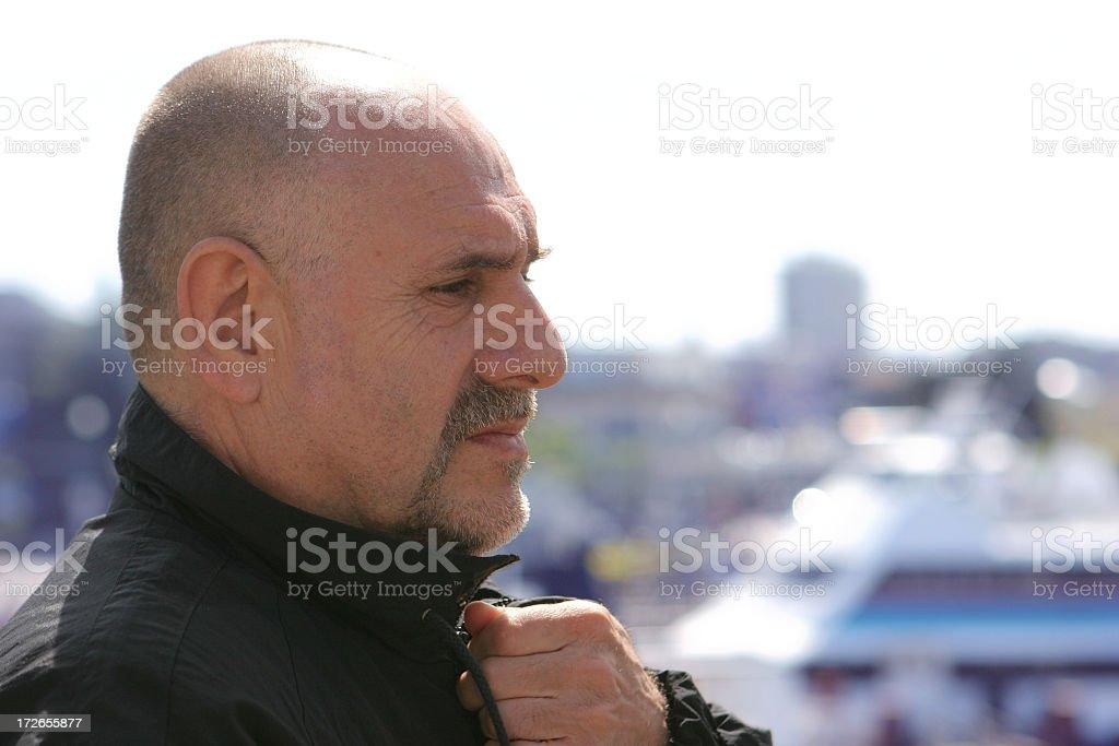 Gentleman Profile stock photo