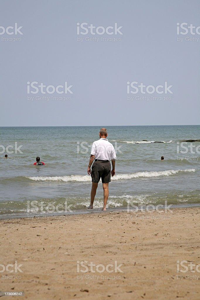 Gentleman Toe-Testing The Water royalty-free stock photo