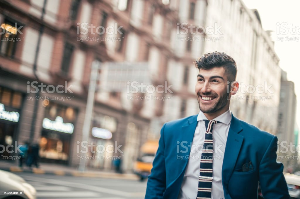 Gentleman with lovely smile stock photo
