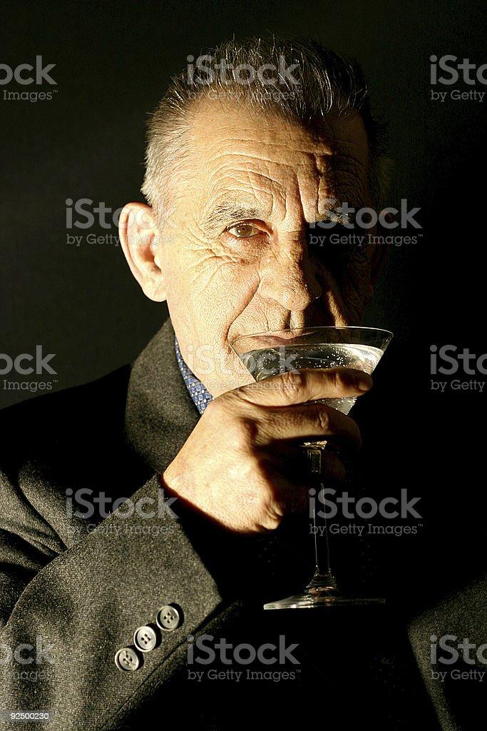 Gentleman with Martini royalty-free stock photo
