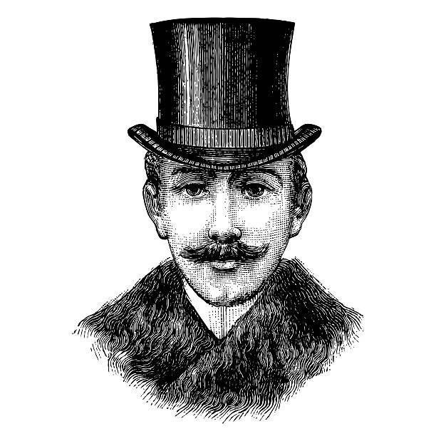 Gentleman with top hat stock photo