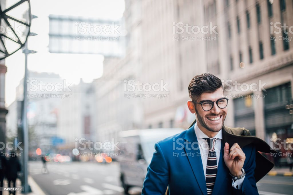 Gentleman wtih eyeglasses stock photo