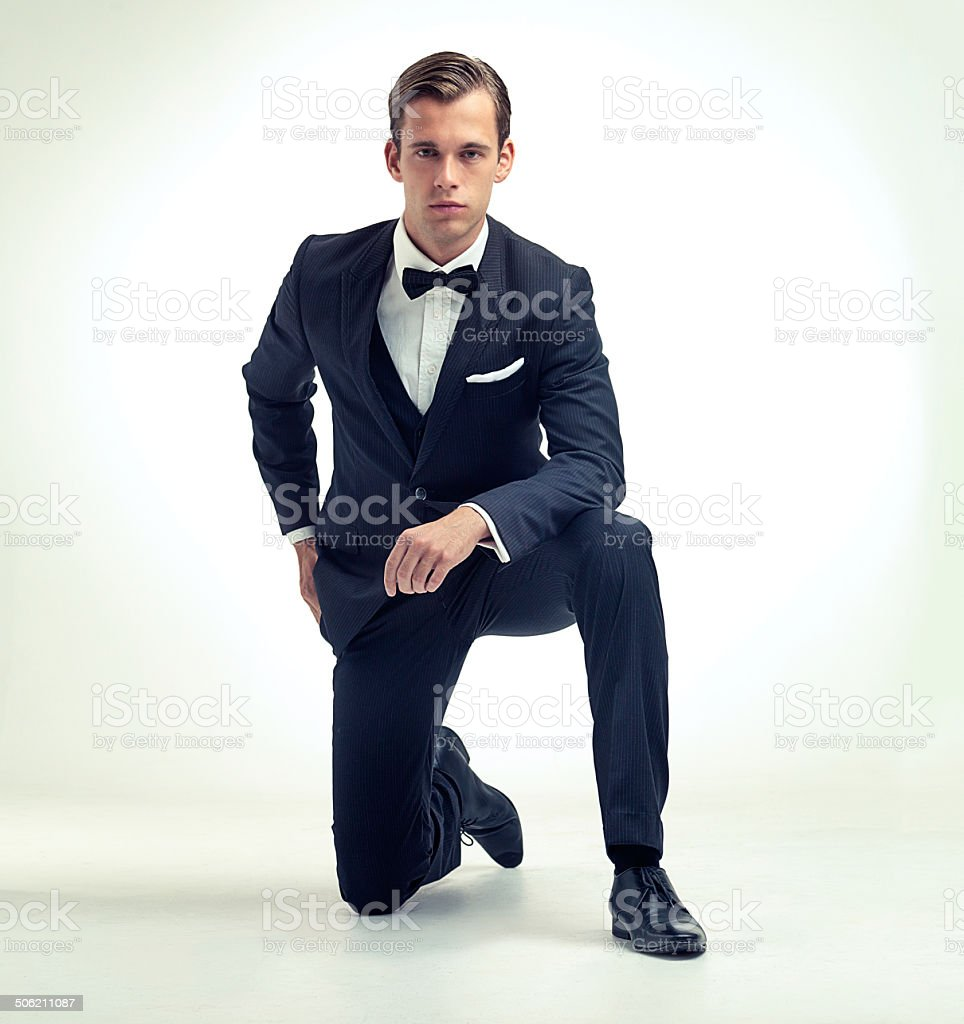 Gentleman's attire stock photo