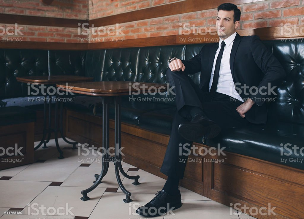 Gentleman's attitude stock photo