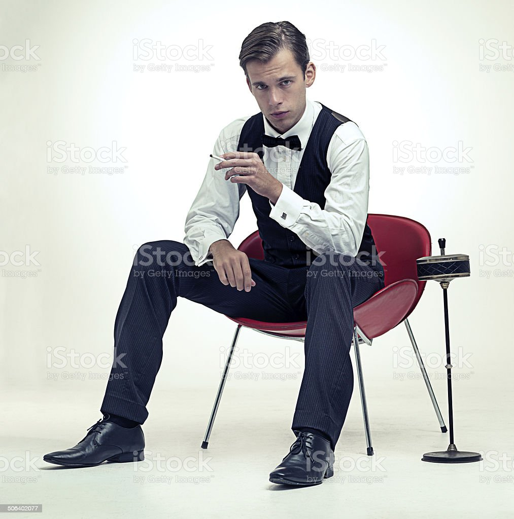 Gentlemen know what classy is stock photo