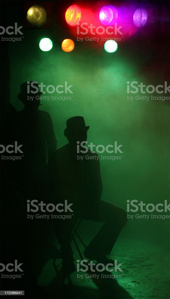 Gentlemens at the concert royalty-free stock photo
