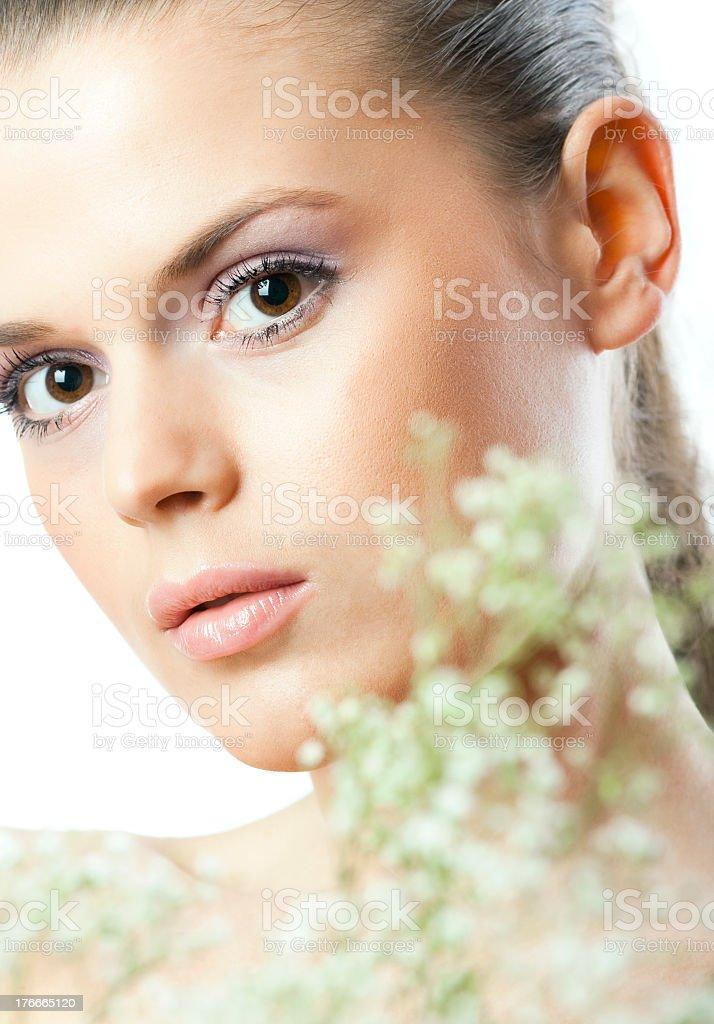 Suavemente verano de maquillaje foto de stock libre de derechos