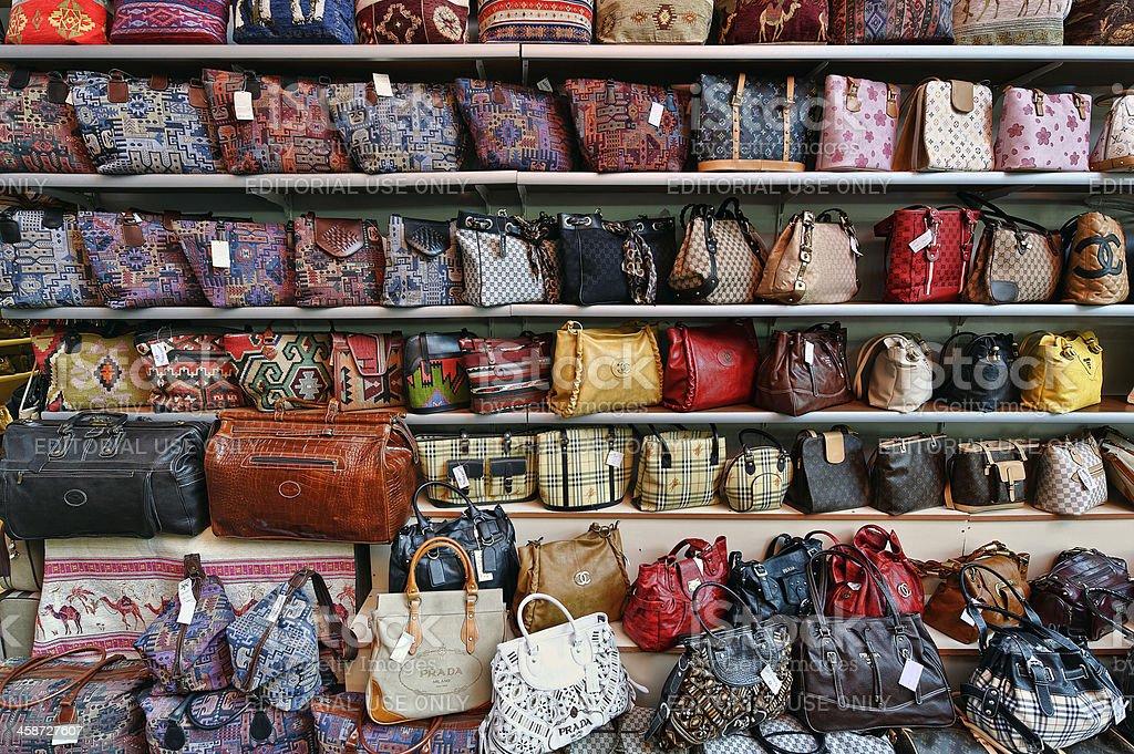 Genuine Fake Designer Hand Bags stock photo