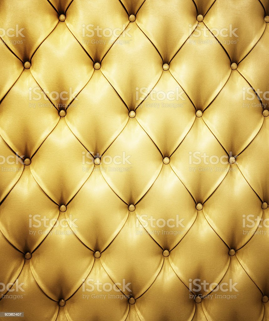 Genuine leather upholstery with quilted pattern royalty-free stock photo