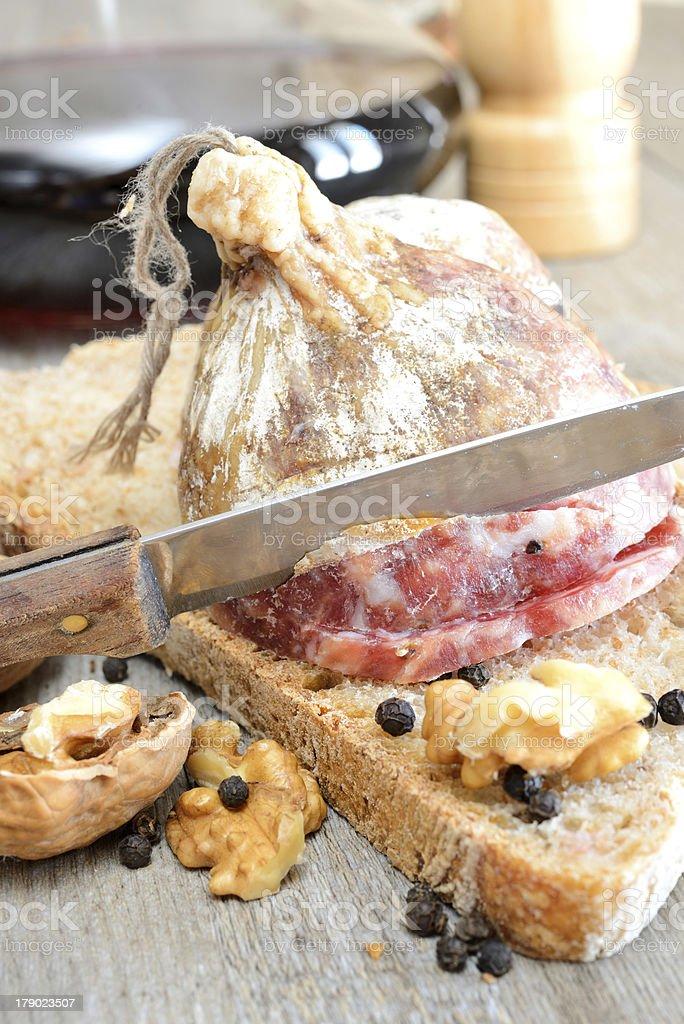 genuine salami royalty-free stock photo