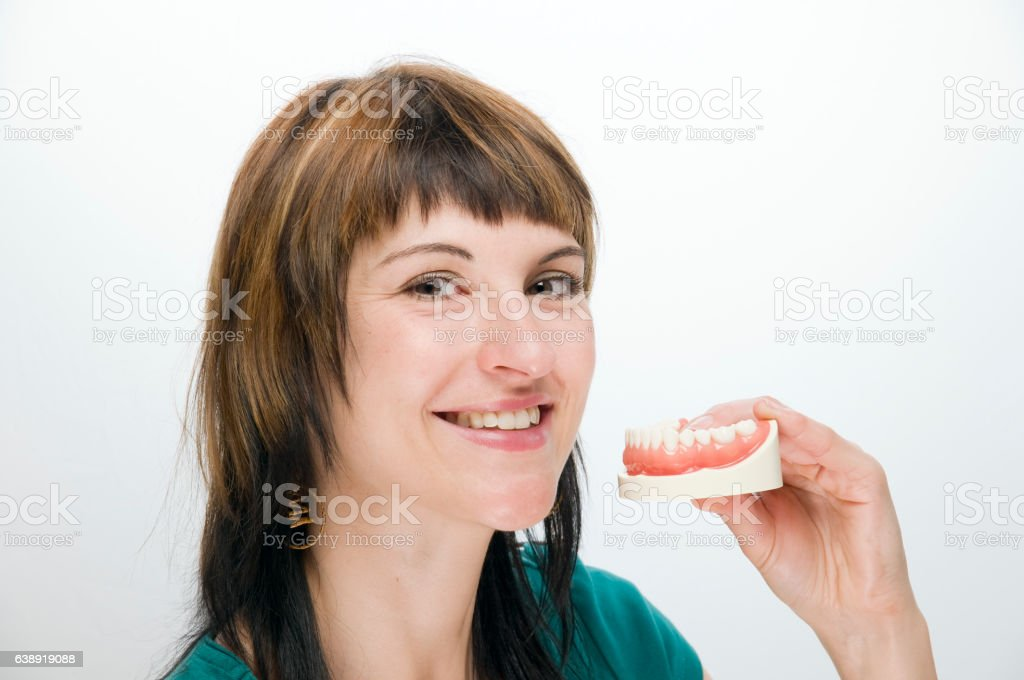 genuine teeth are the best stock photo