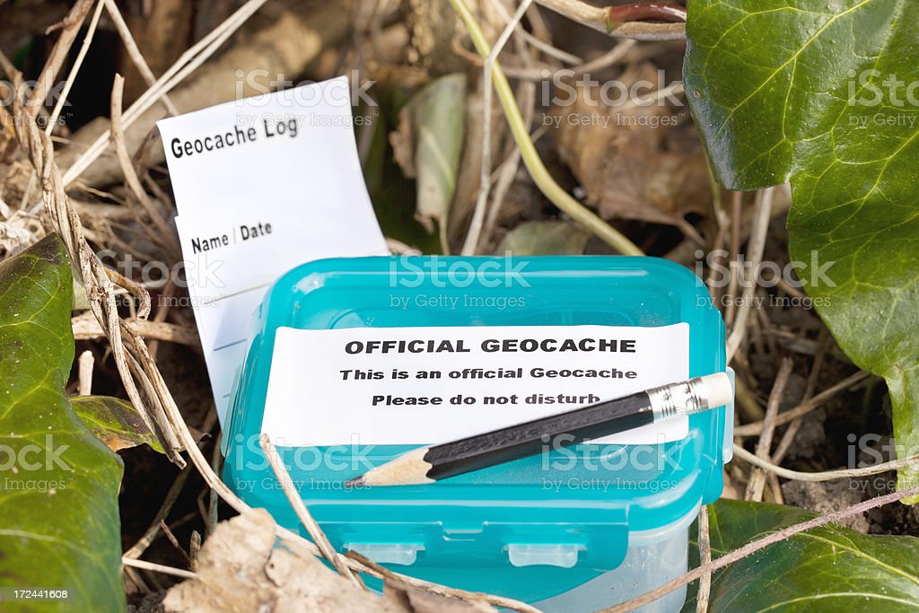 Geocache royalty-free stock photo
