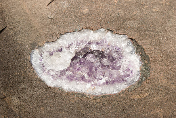 Geode in the Ceiling stock photo