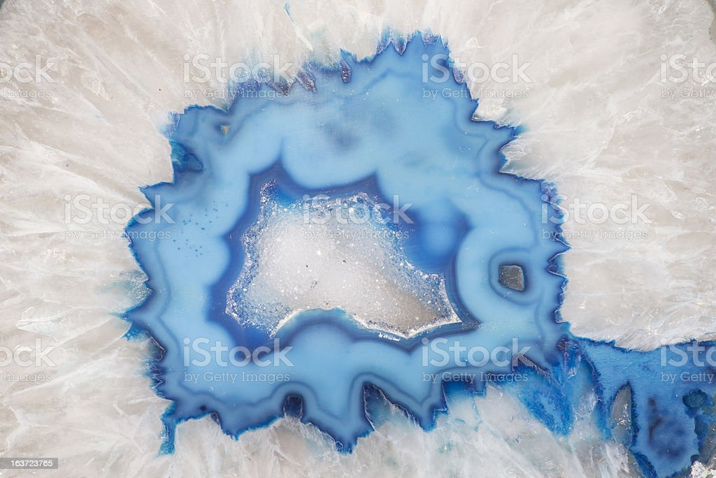 Geode Slice Closeup stock photo