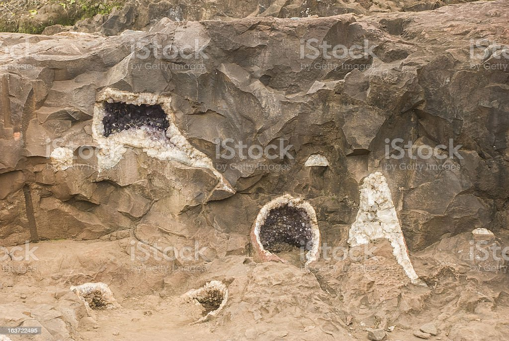 Geodes in the Rock royalty-free stock photo