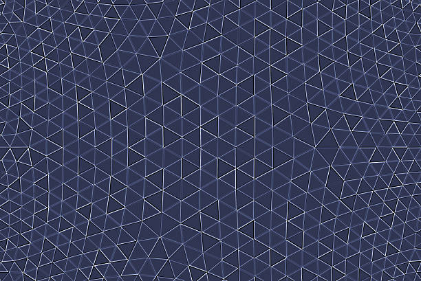 Geodesic Abstract Pattern Monochrome Blue White Technology Futuristic Connection Background stock photo