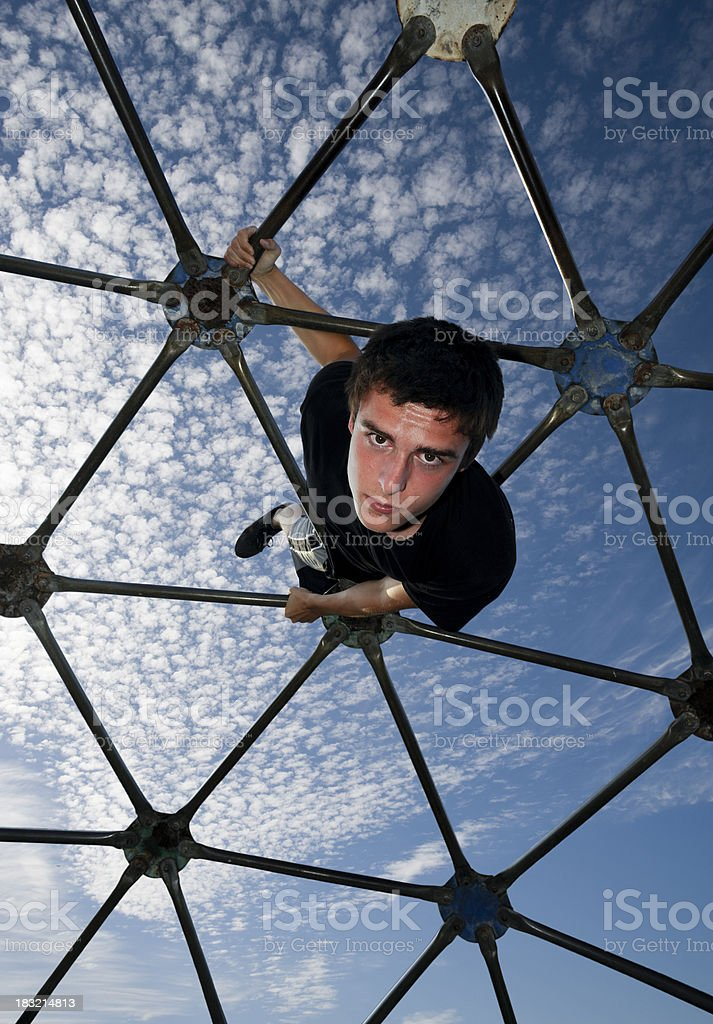 geodesic dome climber royalty-free stock photo
