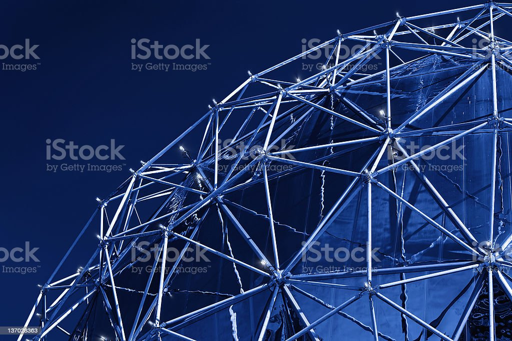 geodesic dome close-up stock photo