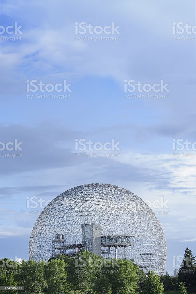 Geodesic dome or biosphere stock photo