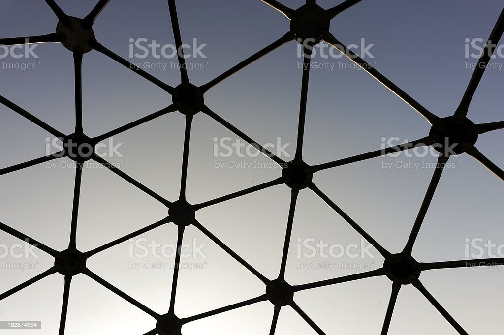 Geodesic dome silhouette royalty-free stock photo